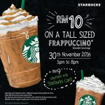 Starbucks Offer Any Tall Sized Frappuccino At RM9 Only!