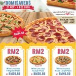 Domino's Pizza Regular Pizza At RM2 Only!