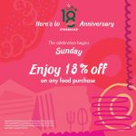 Starbucks Offer 18%off On ANY Food Promo!
