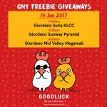 FREE Giordano Vouchers and Freebies Giveaway!