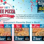 Dominos Offer Buy 1 FREE 1 Promotion Is Back!