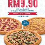 Domino's Pizza Offer 1 Regular Pizza for RM9.90 Only!