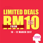 SaSa Limited Deals As Low As RM10 Only!