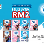 2 New Dutch Lady Milky (Marvel/Frozen) 125ml at Only RM2!