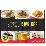 Secret Recipe Offer 50%off Discount Deal!