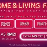 Home & Living Fair As Low As RM2 Deal!