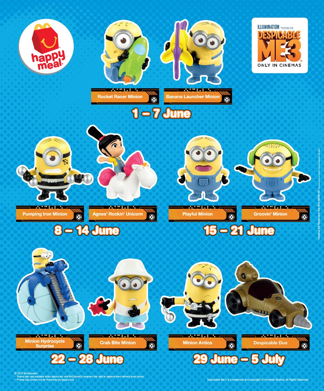 minions at mcdonalds com sweepstakes free despicable me 3 minion toys giveaway 7096