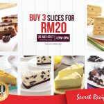 Secret Recipe Offer 3 Slice Cakes only at RM20 Promo!