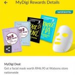 Watsons Facial Mask Only at RM2.99!