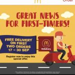 FREE Delivery McDonald's Delivery! – 麦当劳免送外卖!