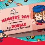 Sushi King Members' Day Double Reward Giveaway! – Sushi King 会员日双倍优惠促销!