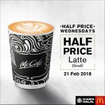 McCafé® Half Price Wednesdays Deal! – 麦当劳咖啡半价优惠!
