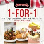 Swensen's Buy 1 Free 1 Deal! –  Swensen's快餐买一送一优惠促销!