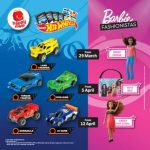 FREE McDonald's Hot Wheels® Series Or Barbie Fashionistas™ Collection Giveaway! – 免费风火轮Hotwheels汽车/芭比时尚达人收藏优惠!