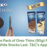 FREE Oreo Thins Biscuit Giveaway! – 请你吃免费Oreo饼干!