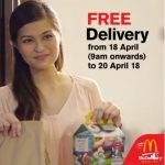 FREE Delivery Via McDelivery Deal! – 麦当劳免费送外卖!