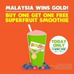 Boost Juice Bars Offer Buy 1 FREE 1 Promo! – Boost果汁买一送一优惠促销!