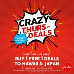 AirAsia Buy 1 Free 1 Promo! – 亚航机位买一送一优惠促销!