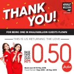 AirAsia Offer Price From Only 50 cent Promo! – 亚航机位优惠价仅从50仙起!