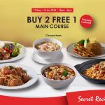 FREE A Secret Recipe Main Course Meal Giveaway! – Secret Recipe优惠免费一份主套餐!