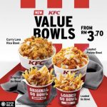 The NEW KFC Value Bowls From RM3.70! – 全新肯德基Value Bowl,满满的一碗只需RM3.70起!