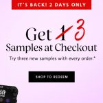 FREE Sephora 3pc Samples Giveaway! – 免费3种护肤试用样品!