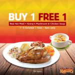 Kenny Rogers ROASTERS Buy 1 FREE 1 Deal! – KRR烤鸡买一送一优惠!