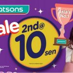 Watsons Weekend Specials 2nd @ 10 Sen Sale! Watsons特优惠,只要RM0.10而已!