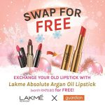 FREE LAKME Absolute Argan Oil Lipstick Giveaway! 免费兑换口红、价值RM79.90!