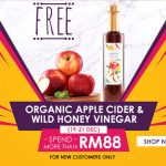 FREE Organic Apple Cider + Wild Honey Vinegar Giveaway! 免费有机苹果酒+野生蜂蜜醋!