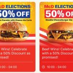 McDonald's Burger 50% Special Offer! 麦当劳汉堡半价优惠!