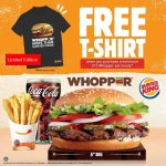 FREE Limited Edition Burger King T-shirt Giveaway! Burger King赠送限量版T恤衫,还有折扣优惠券!