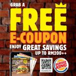 FREE Burger King E-coupon Giveaway!免费Burger King汉堡电子优惠券!
