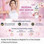 FREE Rexona Dry Serum Deodorant  Sample Giveaway!免费 清除臭乳液样品!