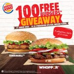 FREE Burger King Burger Giveaway!请你吃免费汉堡!