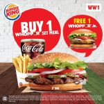 Burger King Buy 1 FREE 1 Deal! Burger King汉堡买1送1优惠!