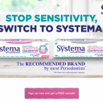Systema Sensitive & Gum Protection Toothpaste Sample Giveaway!  免费Systema牙膏试用样品!