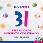 Baskin Robbins Buy 1 FREE 1 Promotion! Baskin Robbins 冰淇凌买一送一优惠!