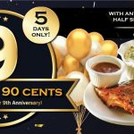 Morganfield's Yummies AT RM 0.90 Promo!庆9th周年, Morganfield's优惠指定套餐只要90仙!