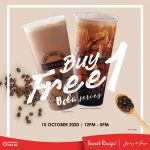 Secret Recipe Buy 1 FREE 1 Promo! Secret Recipe Boba 买一送一!