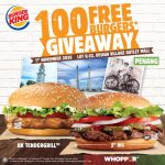 FREE Burger King Burgers Giveaway! 请你吃免费汉堡!