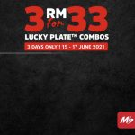 Lucky Plate Combos, 3 For RM 33 Promo!